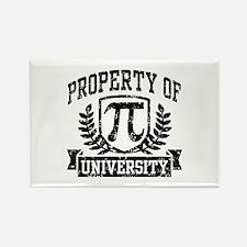 Property of Pi University Rectangle Magnet