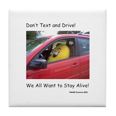 Don't Text and Drive! We All Tile Coaster