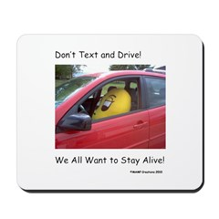 Don't Text and Drive! We All Mousepad