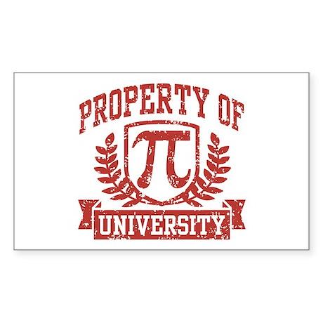 Property of Pi University Sticker (Rectangle)