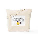 """""""BASEBALL MOMS ROCK"""" Tote Bag"""