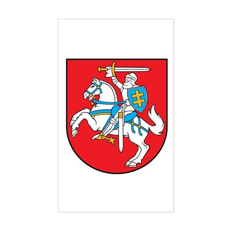 Lithuania Coat of Arms Sticker (Rectangle)