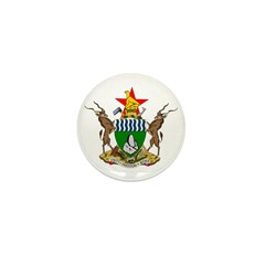 Zimbabwe Coat of Arms Mini Button