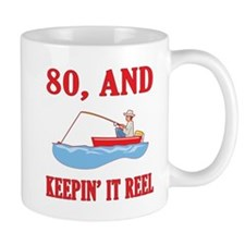 80 And Keepin' It Reel Mug