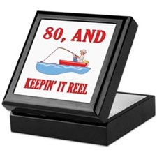 80 And Keepin' It Reel Keepsake Box