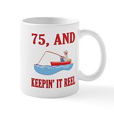 75 And Keepin' It Reel Small Mug