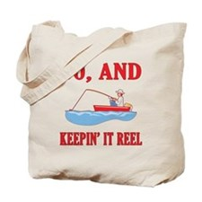 60 And Keepin' It Reel Tote Bag