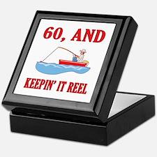 60 And Keepin' It Reel Keepsake Box