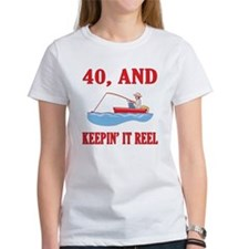 40 And Keepin' It Reel Tee