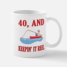 40 And Keepin' It Reel Mug