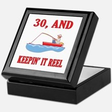 30 And Keepin' It Reel Keepsake Box