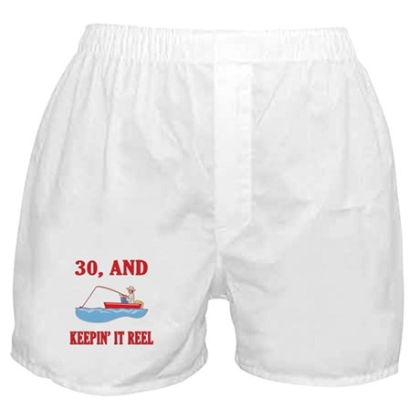 30 And Keepin' It Reel Boxer Shorts