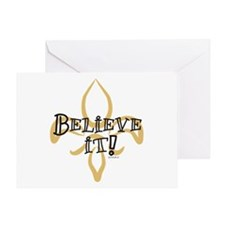 Believe it! Saints Won Greeting Card