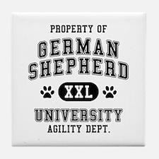 Property of German Shepherd Univ. Tile Coaster