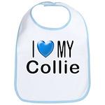 I Love My Collie Bib