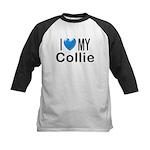 I Love My Collie Kids Baseball Jersey