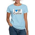 I Love My Collie Women's Pink T-Shirt