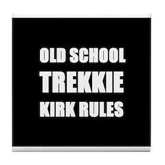 Old School Trekkie Tile Coaster