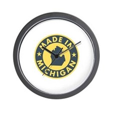 Made in Michigan Wall Clock