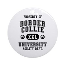 Property of Border Collie Univ. Ornament (Round)