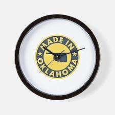 Made in Oklahoma Wall Clock