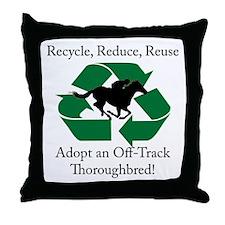 Adopt an OTTB Throw Pillow