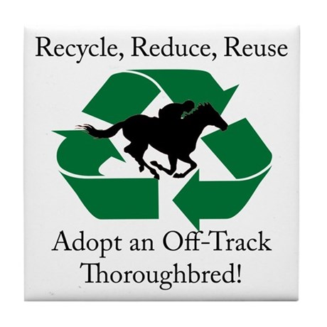 Adopt an OTTB Tile Coaster