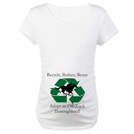 Adopt an OTTB Maternity T-Shirt
