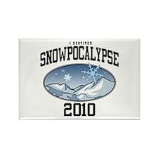 I Survived Snowpocalypse 2010 Rectangle Magnet