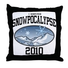 I Survived Snowpocalypse 2010 Throw Pillow