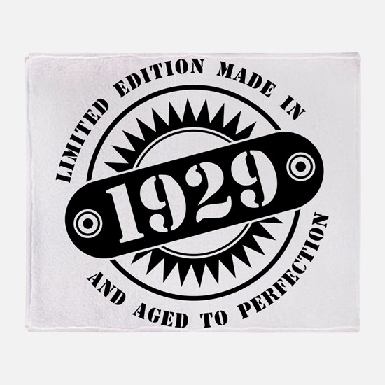 LIMITED EDITION MADE IN 1929 Throw Blanket