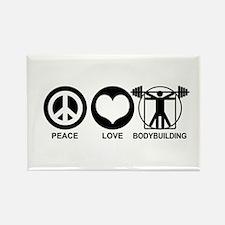 Peace Love Bodybuilding Rectangle Magnet