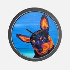 Miniature Pinscher Wall Clock