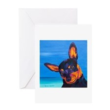Miniature Pinscher Greeting Card