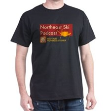 Northeast Ski Podcast Black T-Shirt