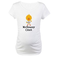 McSteamy Chick Maternity T-Shirt