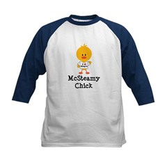 McSteamy Chick Kids Baseball Jersey