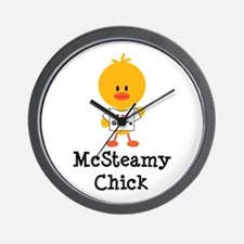 McSteamy Chick Wall Clock