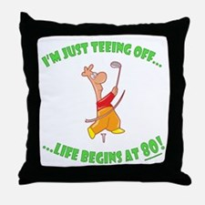 Teeing Off At 80 Throw Pillow
