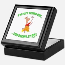 Teeing Off At 80 Keepsake Box