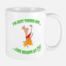 Teeing Off At 75 Mug