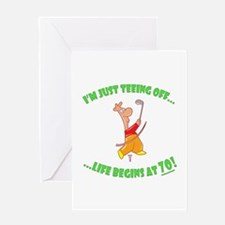 Teeing Off At 70 Greeting Card