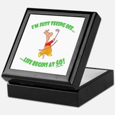 Teeing Off At 50 Keepsake Box