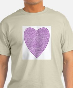 Purple Heart Ash Grey T-Shirt