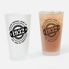 LIMITED EDITION MADE IN 1932 Drinking Glass