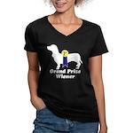 What a Weiner! Women's V-Neck Dark T-Shirt