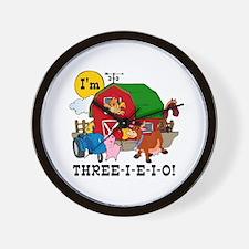 THREE-I-E-O Wall Clock