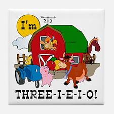 THREE-I-E-O Tile Coaster