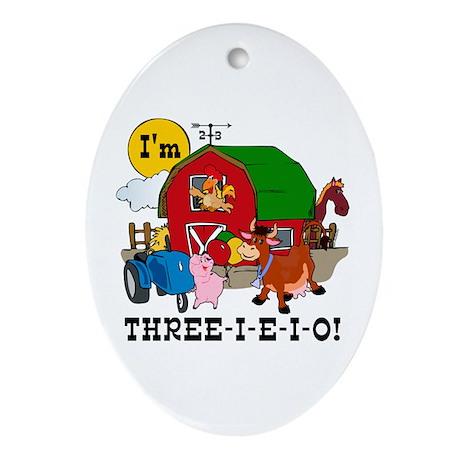 THREE-I-E-O Ornament (Oval)
