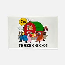 THREE-I-E-O Rectangle Magnet